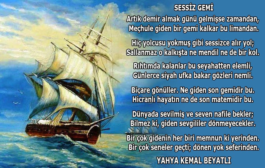 Içinden Deniz Geçen Türk şiirleri Deniz Kartalı